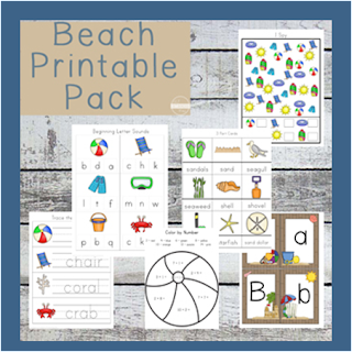 beach preschool worksheets