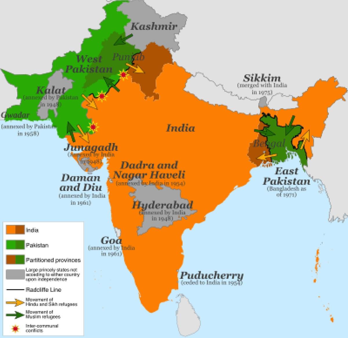 Peta India dan Pakistan