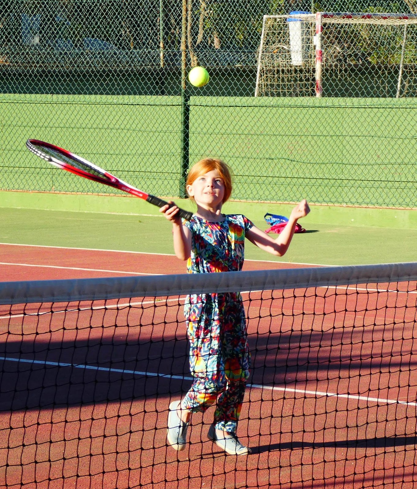 How to access free tennis sessions for kids across the North East this summer with LTA and #TennisForKids - girl playing tennis