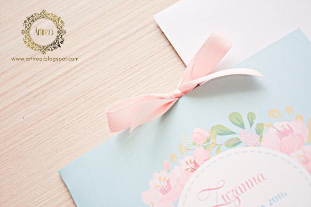 miętowe i różowe dodatki ślubne