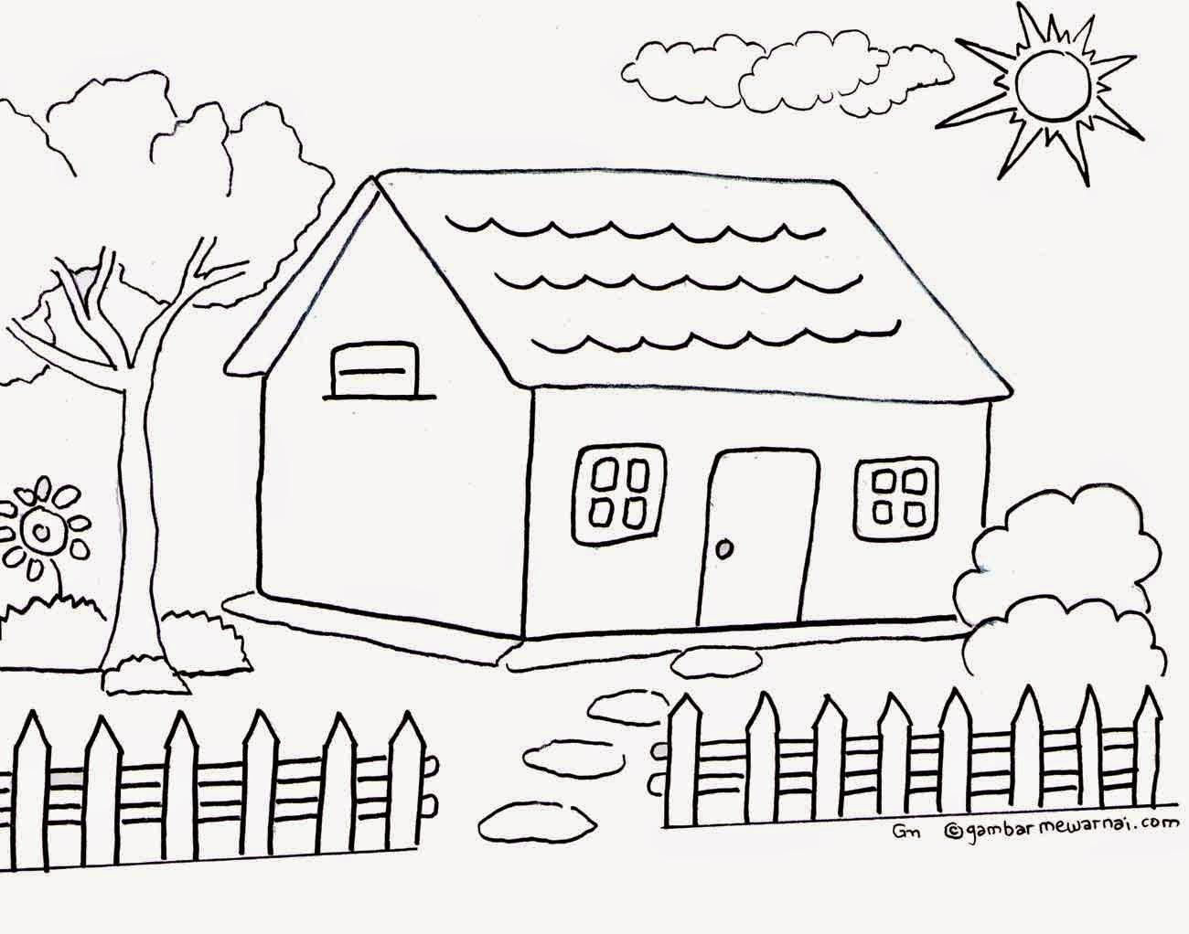 Sketsa Gambar Untuk Anak Sd Kelas 1 Sobsketsa