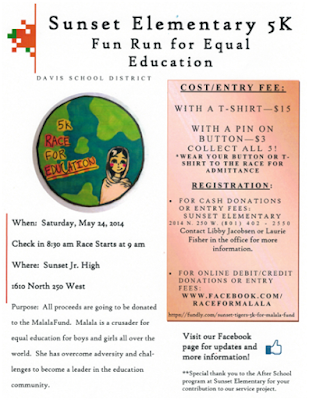 Sixth graders created this flier to advertise their 5K run to earn money for the Malala Fund.  Why?  Because they had been highly engaged in interesting, relevant reading and writing that led them to a real-world purpose!  See the blog post for more ideas and resources.
