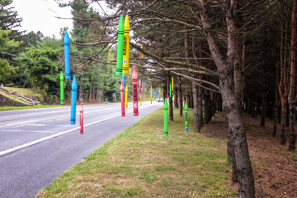 Hanging Crayons at the Edge of the Mister Ed's Enchanted Forest