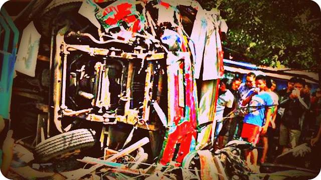 Bus Trans Semarang Tabrak Pangkalan Ojek Sultan Agung, Belasan Terluka