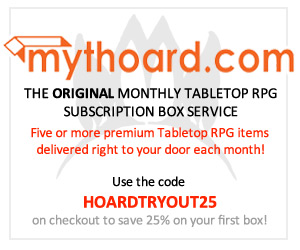 Mythoard Monthly Tabletop RPG Box Subscription Service