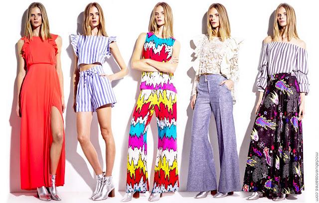 Moda 2018 | Ropa de mujer estilo casual urbano y noche primavera verano 2018 | Moda primavera verano 2018.
