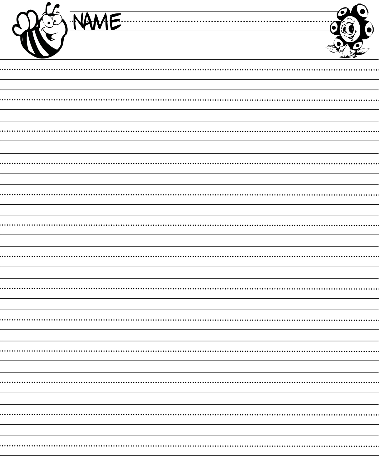 Sergio S Classroom Printables Writing Paper