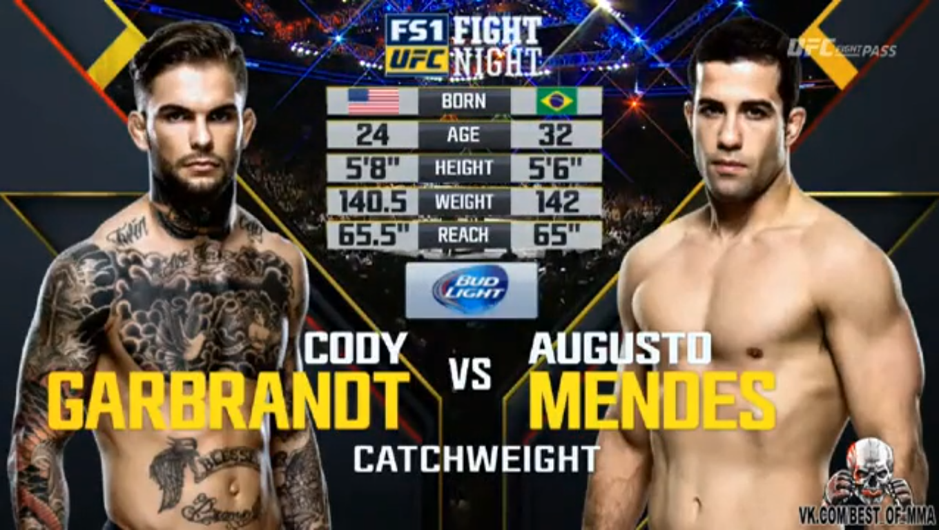 todas as lutas full fight cody garbrandt vs augusto mendes full