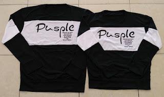 Jual Online Sweater Pusple Neo Black White Couple Murah Jakarta Bahan Babytery Terbaru