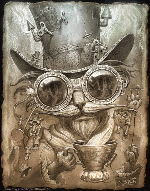 Art Of Jeff Haynie Steampunk Cat Daddy