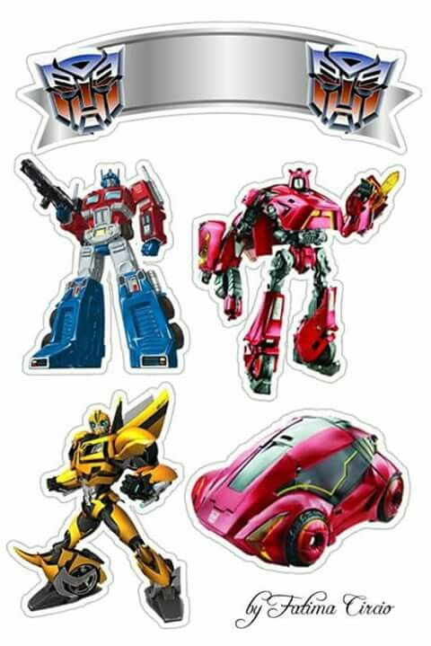 Transformers Free Printable Cake Toppers.