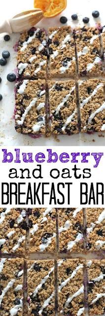 blueberry oat breakfast bar