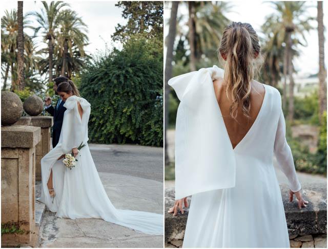 boda casa santonja alicante vestido novia maxi lazo coleta