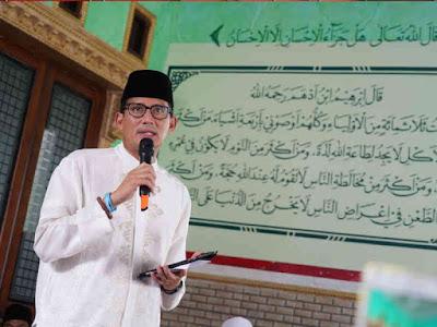 Sandiaga Salahuddin Uno Hadiri Haul KH Abdul Karim di Sembilangan
