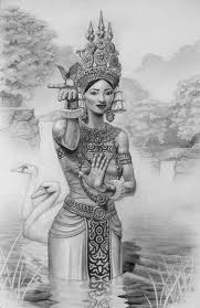 Most Beautiful Drawing in the World: How to Draw Apsara ...