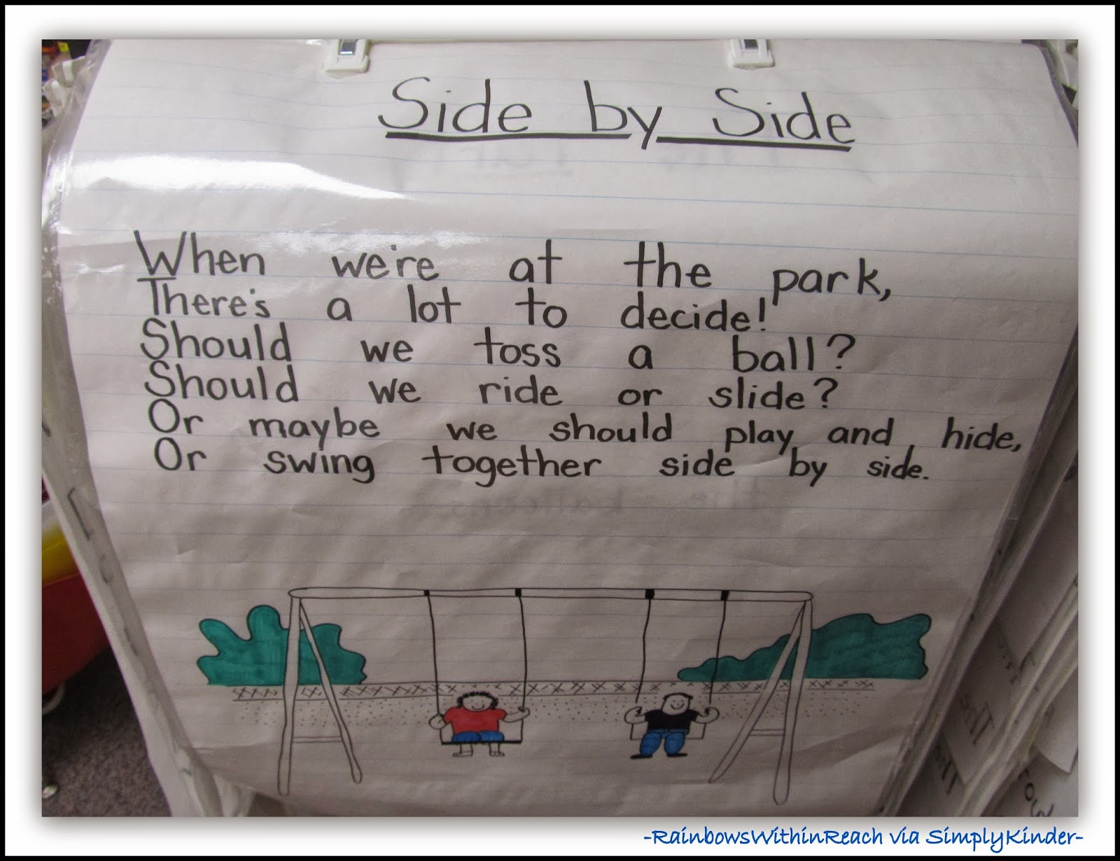 Spring Anchor Chart at the Park from RainbowsWithinReach via SimplyKinder
