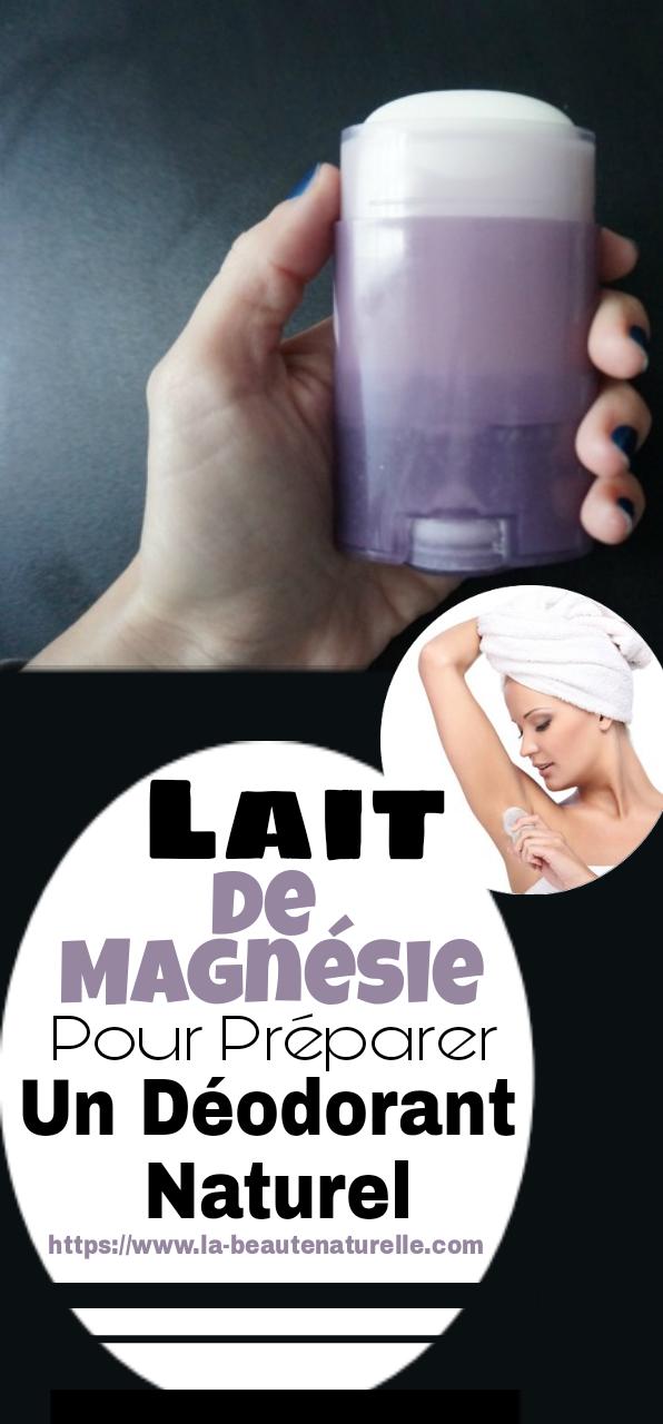 Lait de magnésie pour préparer un déodorant naturel