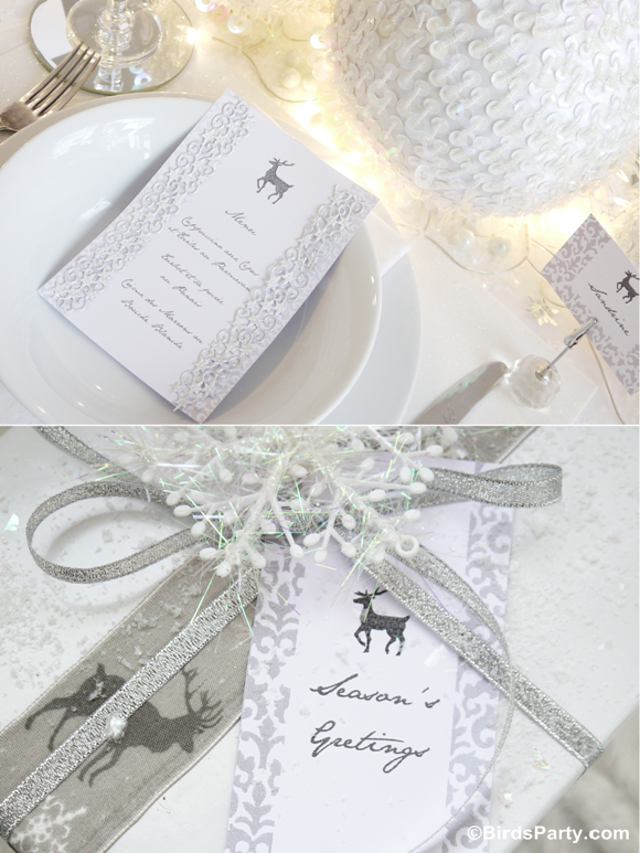 White Winter Wonderland Christmas Party Printables