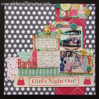 scrapbook layout shimelle laine glitter girl episode 123 scrapbooking cosmo cricket studio tekturek embellishment clusters