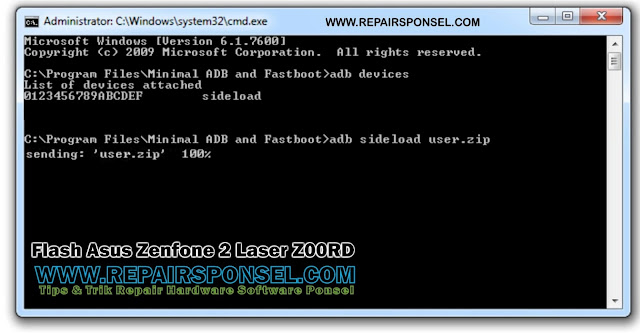 Flash Asus Zenfone 2 Laser Z00RD ADB Fastboot
