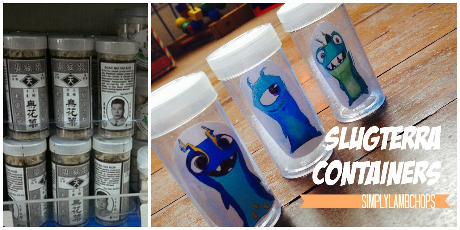Homemade Slugterra canisters craft by Simply Lambchops