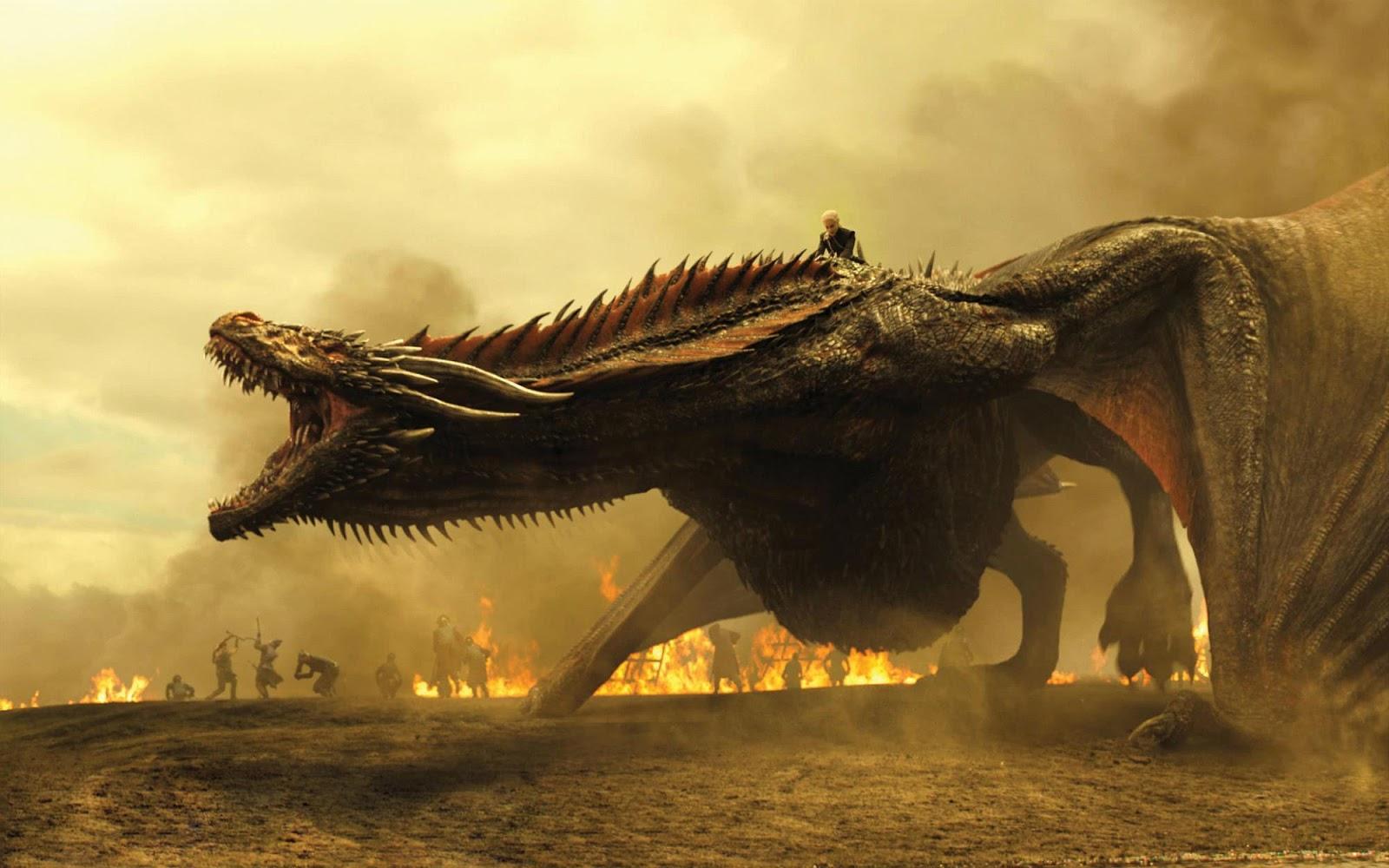 Juego de Tronos 7 - Daenerys Targaryen y su dragon