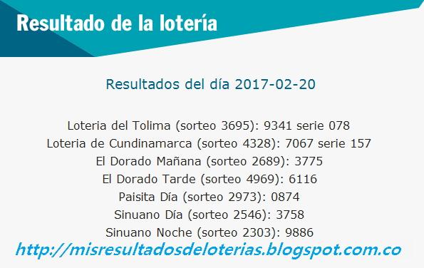 Últimos Resultados de la Lotería -Resultados del chance hoy - Resultados de la lotería hoy