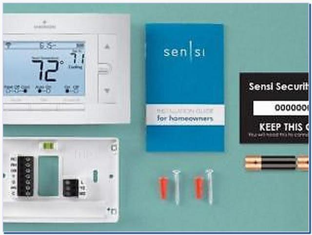 Sensi smart thermostat wi-fi up500w works with amazon alexa
