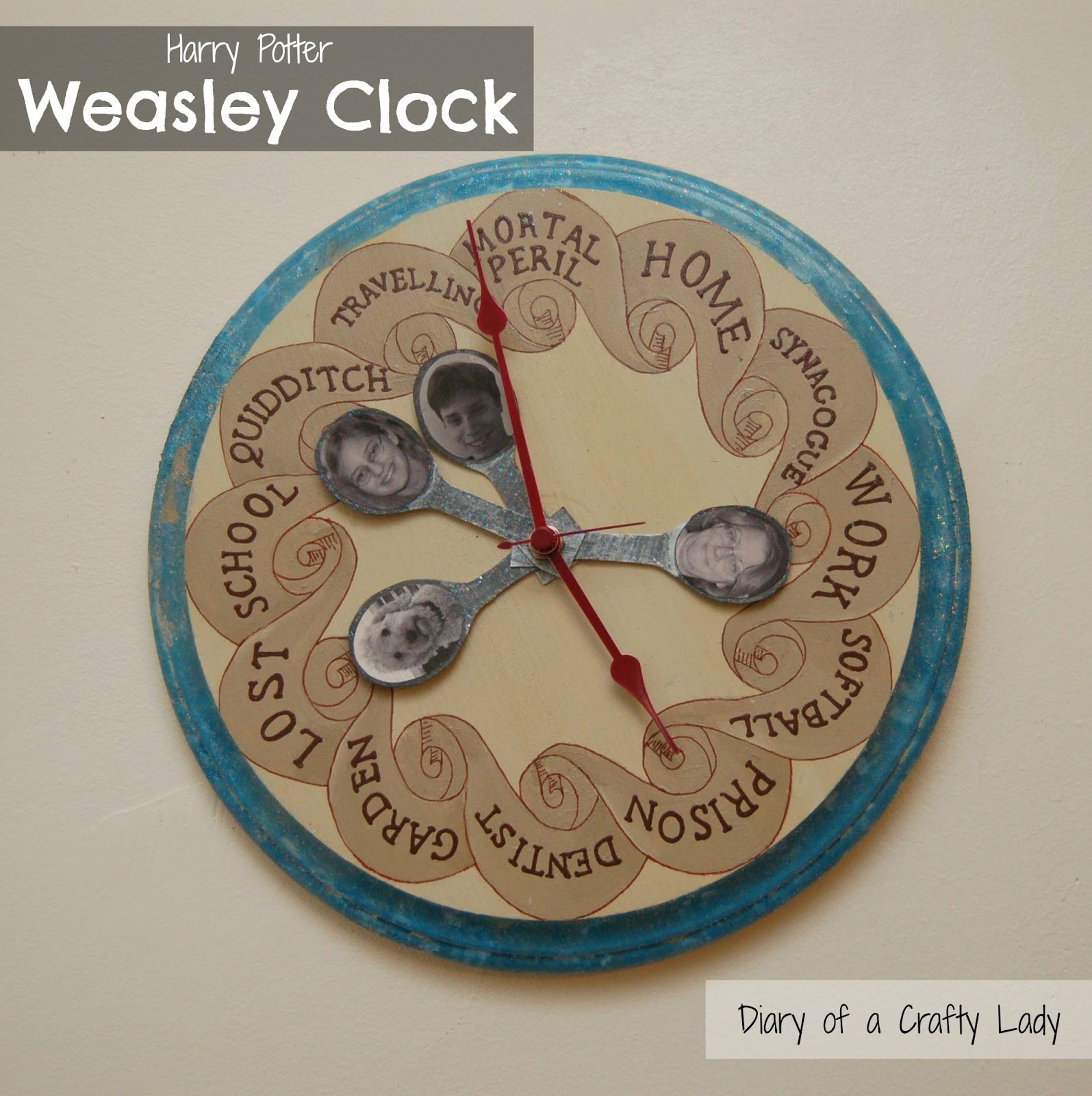 Diary Of A Crafty Lady Harry Potter Weasley Family Clock