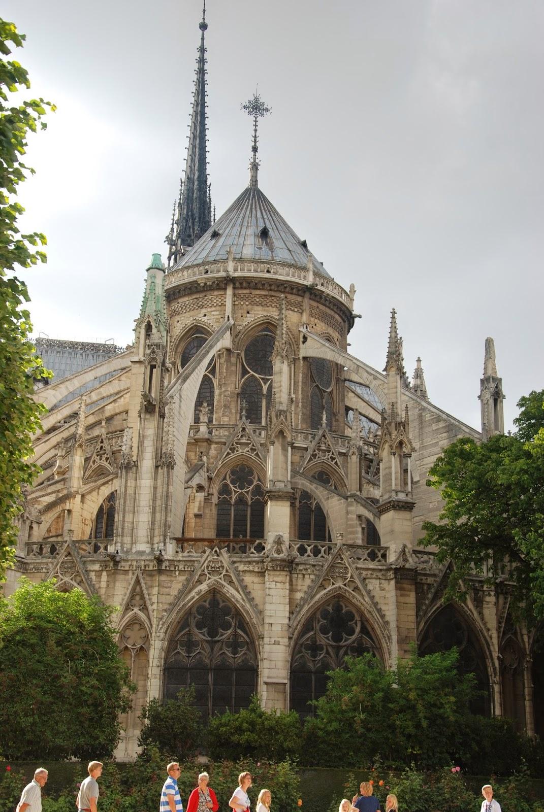 Exterior del ábside de la Catedral de Notre Dame, París