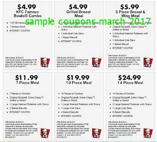 free Kfc coupons for march 2017