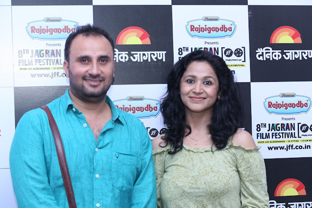 Director Pratik Sharma and Actor Asmita Sharma of Gutrun Gutergu) during day 4 at Jagran Film Festival