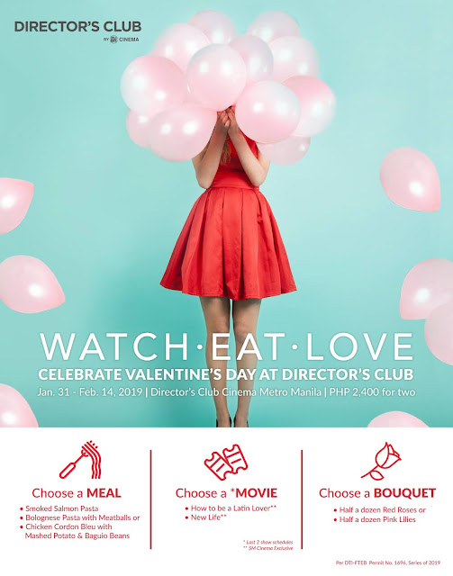 Watch, Eat, and Love at SM Cinema Director's Club this Valentine's Day 2019