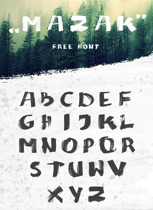 Mazak Free Font