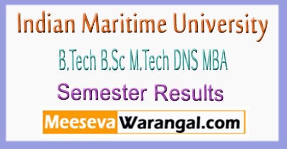 Maritime University B.Tech B.Sc M.Tech DNS MBA Results 2018