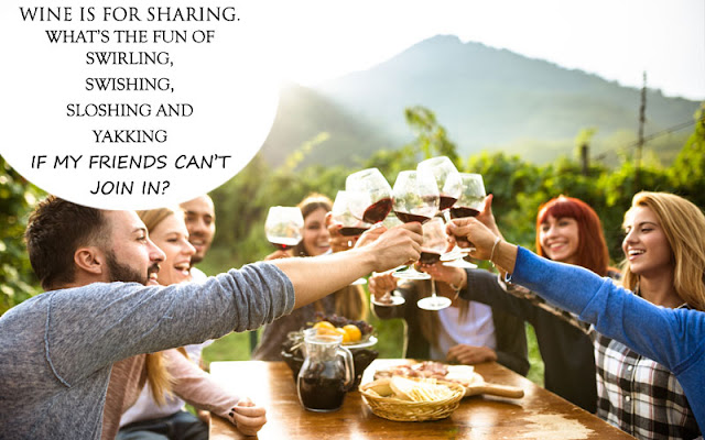 Wine Quote - Wine is for sharing