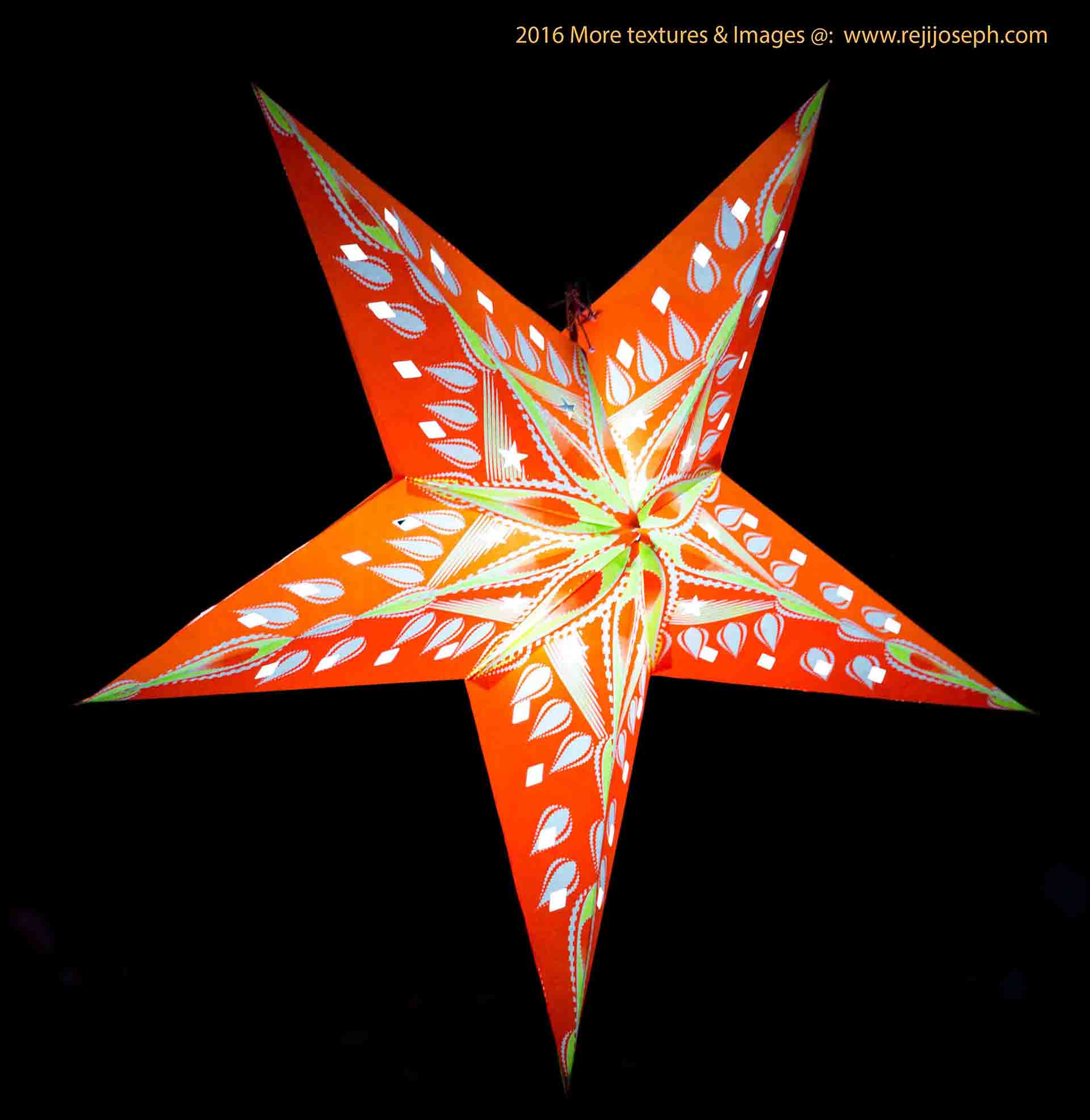 Christmas star Illumination light decoration 00012