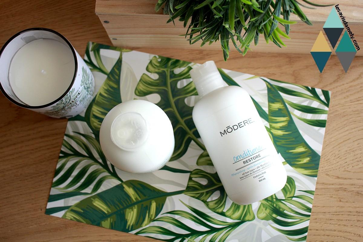 avis et test soins capillaires Modere shampooing et conditionner