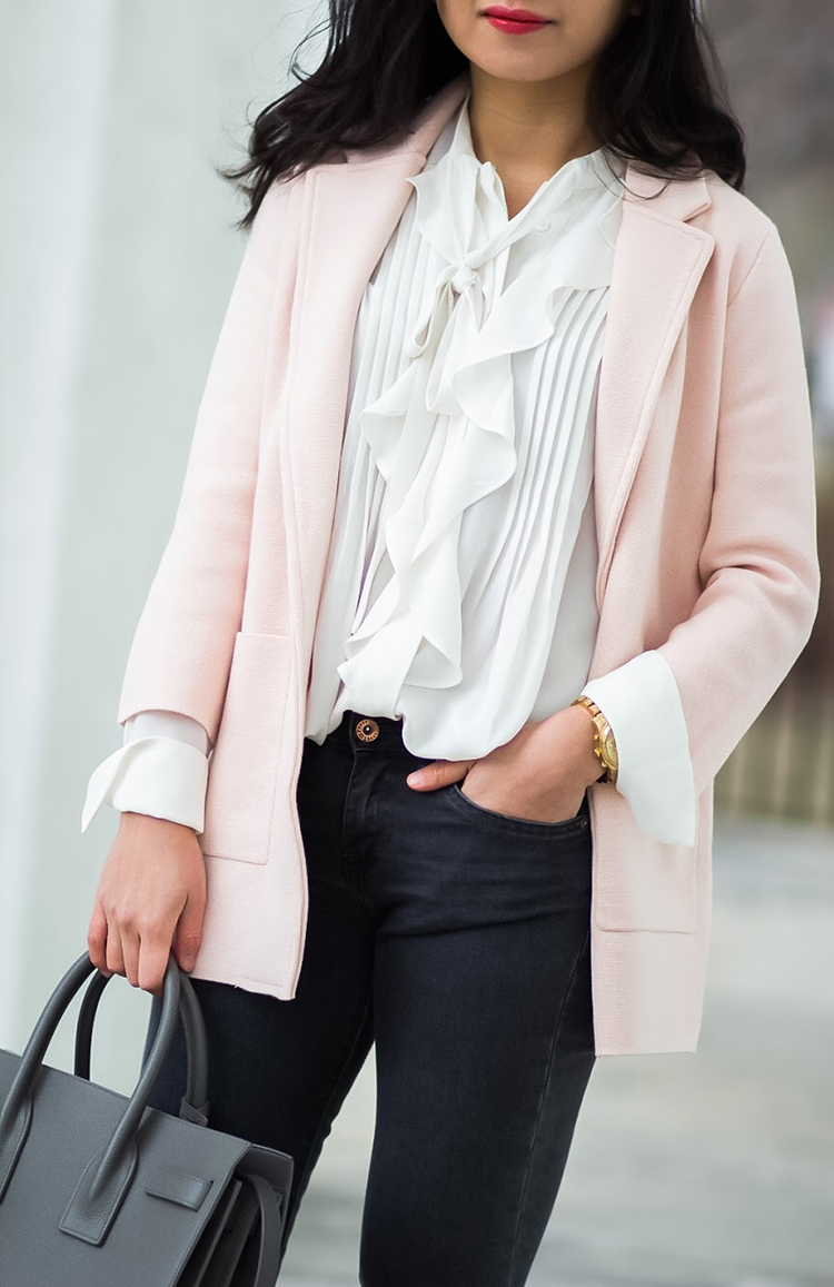 Review: J. Crew Sophie Open-Front Sweater-Blazer // New Lightweight Sweater-Blazer