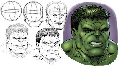 Hulk Drawing Step by Step Tutorial