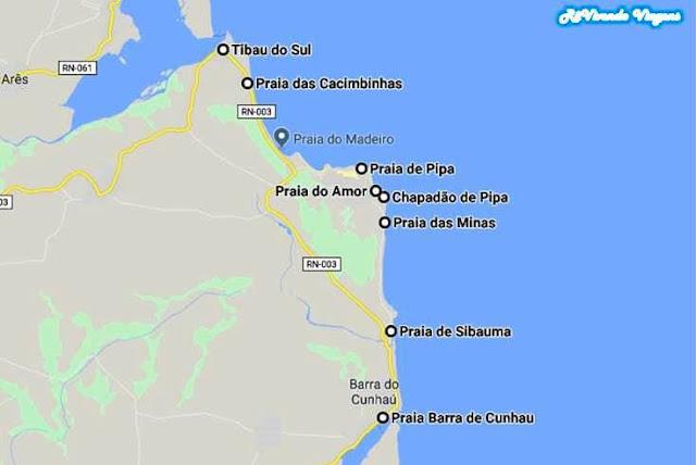 mapa de Pipa rn