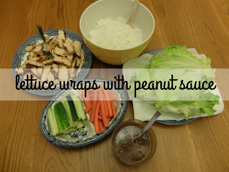 Sweet Turtle Soup - Lettuce Wraps with Peanut Sauce