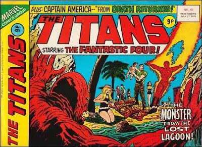 Marvel UK, The Titans #40, the Fantastic Four meet the Creature From The Black Lagoon