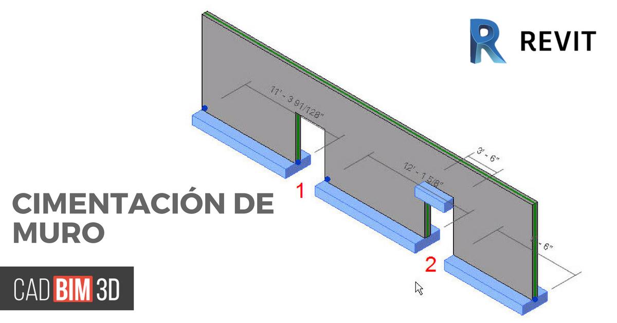 Cómo crear una cimentación de muro en Revit