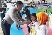 Ratusan Anak Tingkat TK, SD, SMP, SMA Antusias Ikuti Kompetisi Taekwondo di GOR Tambora