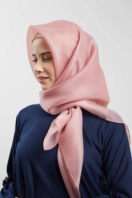 tutorial memakai hijab organza