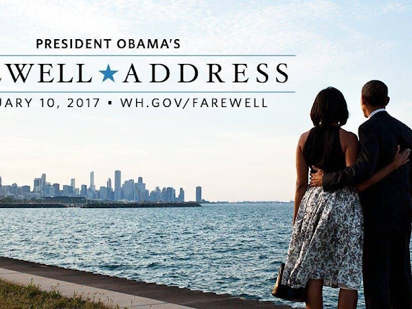 President Obama Farewell Address Tuesday Jan 10th