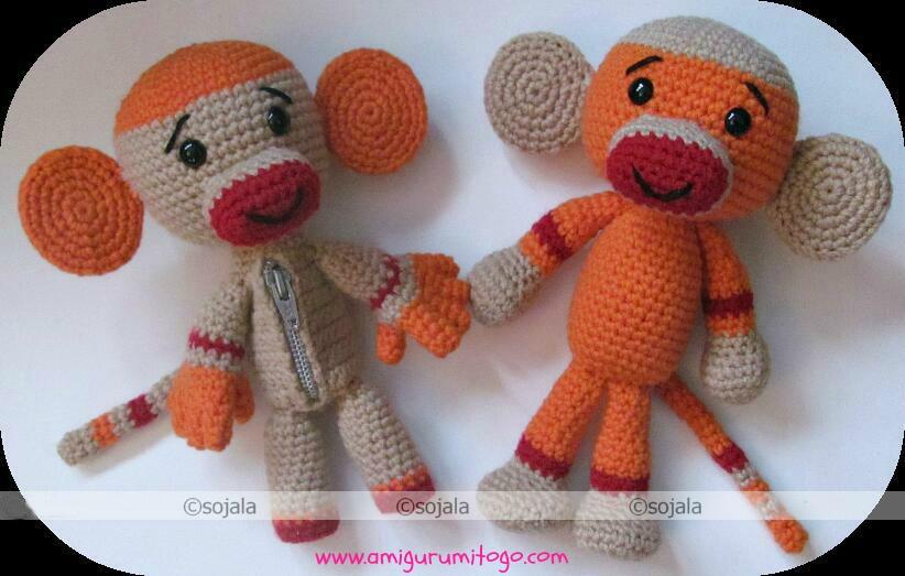 Amigurumitogo Sock Monkey : Sock monkey free crochet pattern amigurumi to go