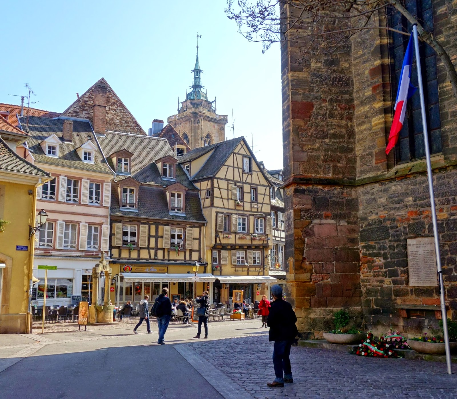 La Place des Dominicans ~ Colmar ~ Making on the Mountain ~ cymberrain