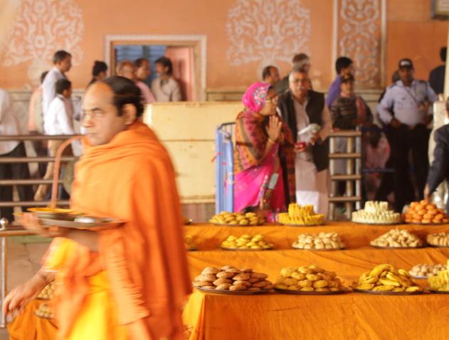 Offerings in front of the lord - Govind Devji temple, Jaipur